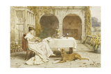 Faithful Friend at Tea Time Giclee Print by George Goodwin Kilburne