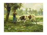 Cows at Pasture Giclee Print by Julien Dupre