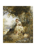 Day Dreaming Giclee Print by Arthur Joseph Woolmer