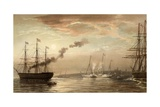 The Royal Yacht Off Margate, 5 March 1863 Giclee Print by Robert Dudley