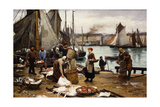 Unloading the Catch, 1881 Giclee Print by Victor Gabriel Gilbert
