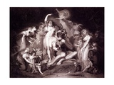 Titania, Bottom and the Fairies, Act 4, Scene 1 of a Midsummer Night's Dream, from 'shakespeare'… Giclee Print by Henry Fuseli