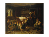 Children Playing in an Interior, 1873 Giclee Print by Bengt Nordenberg