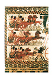 Side of the Painted Casket from the Tomb of Tutankhamun Giclee Print