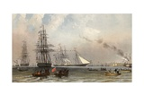The Arrival of the Royal Yacht Off Gravesend, 7 March 1863 Giclee Print by Robert Dudley