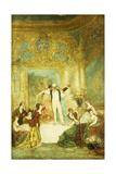 Une Soiree Chez La Paiva Giclee Print by Adolphe Joseph Thomas Monticelli
