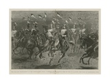 A Double Double Musical Ride by the 17th Lancers Giclee Print by John Charlton