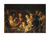 The King Drinks Giclee Print by Jacob Jordaens