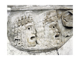 Detail from a Sarcophagus of an Actor, Depicting Two Tragic Masks Giclee Print