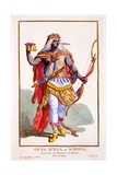 Anna Singa, or Schmga, Queen of Malemba, from 'Recuil Des Estampes, Representant Les Rangs Et Les… Giclee Print by Pierre Duflos