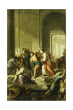 Christ Driving the Money-Changers from the Temple Giclee Print by Eustache Le Sueur
