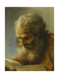 A Bearded Apostle Reading, 1712 Giclee Print by Benedetto Luti