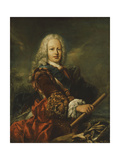 Portrait of King Ferdinand VI of Spain (1713-1759) Giclee Print by Giovanni Antonio Guardi