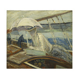 Ms. Helleu at Sea, Yacht Bird; Madame Helleu En Mer, Yacht Bird Giclee Print by Paul Cesar Helleu