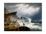 Robin Hood's Bay, Yorkshire, 1825 Giclee Print by Francis Nicholson