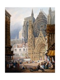 Rouen Cathedral Giclee Print by Samuel Prout