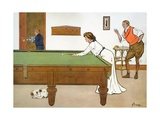 A Billiards Match Giclee Print by Lance Thackeray