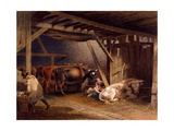 Cow Shed Giclee Print by Robert Hills