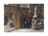 The Studio of the Sculptor Albert-Ernest Carrier-Belleuse Giclee Print by Louis Robert Carrier-Belleuse