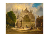 The West Front of Exeter Cathedral, C.1860 Giclee Print by F. J. Corri