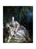 Madame De Pompadour, 1758 Giclee Print by Francois Boucher
