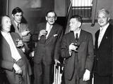 Louis Mac Neice, Ted Hughes, T.S. Eliot, W.H. Auden, Stephen Spender, 1960 Photographic Print