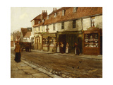 Eltham High Street- 1892 Giclee Print by George Elgar Hicks