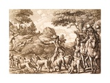 Hare Hunting, Engraved by Wenceslaus Hollar, 1671 Giclee Print by Francis Barlow