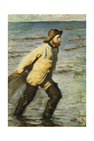 A Fisherman Hauling in His Nets, 1883 Giclee Print by Peder Severin Kröyer