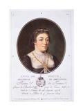 Anne De Dreux, Duchess of Brittany, from 'Portraits Des Grands Hommes, Femmes Illustres, Et… Giclee Print