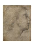 Head of an Angel in Profile Looking Up to the Right Giclée-tryk af Fra Bartolommeo