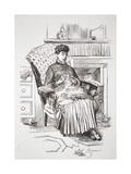 Un Coin D'Interieur, Illustration from 'La Rue a Londres', Pub. by G. Charpentier Et Cie, 1884 Giclee Print by Auguste Andre Lancon
