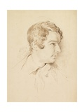Head of a Man Giclee Print by George Richmond