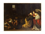 The Deliverance of St. Peter Giclée-tryk af Orazio Gentileschi