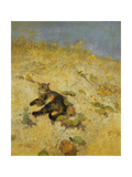 A Cat Basking in the Sun, 1884 Giclee Print by Bruno Andreas Liljefors