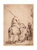 The Turbaned Soldier on Horseback, 1632 Giclee Print by  Rembrandt van Rijn