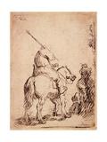 The Turbaned Soldier on Horseback, 1632 Giclee Print by  Rembrandt van Rjin