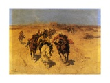 Arabs on Horseback Giclee Print by Franz Roubard