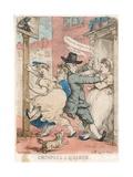 Crimping a Quaker Giclee Print by Thomas Rowlandson