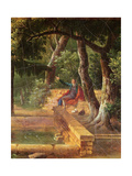 Jean-Jacques Rousseau Meditating in the The Park at La Rochecordon Near Lyon in 1770 Giclee Print by Alexandre Hyacinthe Dunouy