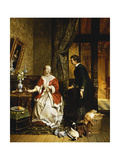Back from the Market, 1846 Giclee Print by David Emil Joseph de Noter
