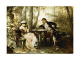 Small Talk; Ein Plauderstundchen, 1887 Giclee Print by Karl The Elder Schweninger