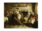A Visit from Grandparents Giclee Print by Joseph Clark