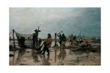Fastening the Nets, 1885 Giclee Print by Edouard-Joseph Dantan
