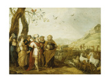 Noah and His Family before the Embarkation into the Ark Giclee Print by Hans III Jordaens