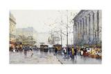 La Madeleine, Paris Giclee Print by Eugene Galien-Laloue