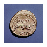 Coin Issued to Commemorate the Defeat of Antony and Cleopatra Giclee Print