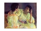 The Conversation, C.1896 Giclee Print by Mary Stevenson Cassatt