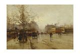 Les Boulevards, Paris Giclee Print by Eugene Galien-Laloue