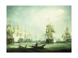 The Battle of Trafalgar, 1805 Giclee Print by Thomas Buttersworth